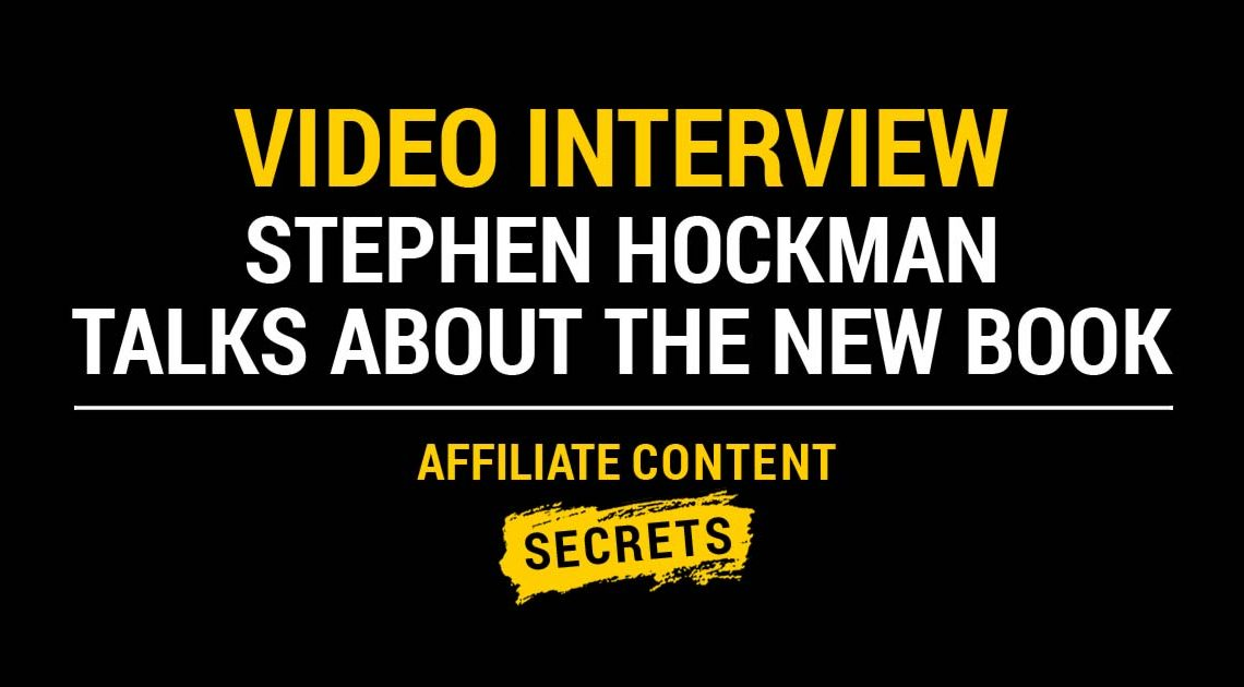 Video interview: Stephen Hockman talks about the new book